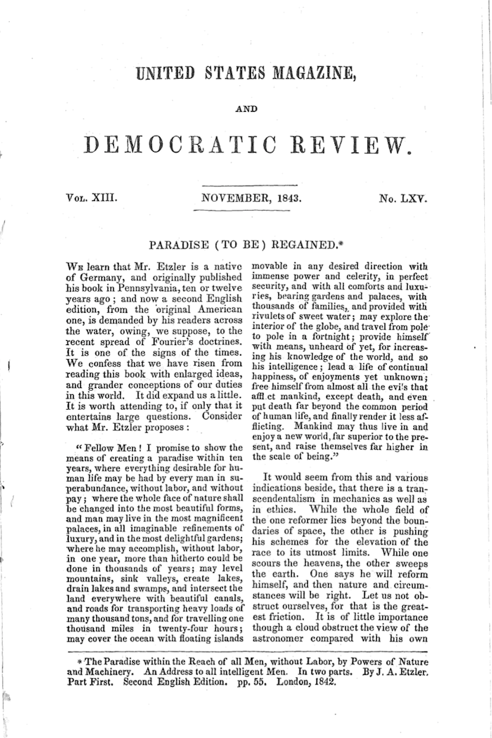 Page of Democratic Review, 1863